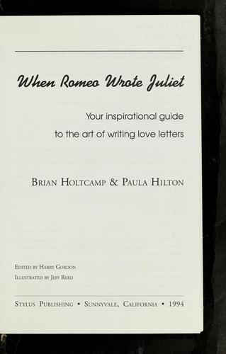When Romeo wrote Juliet