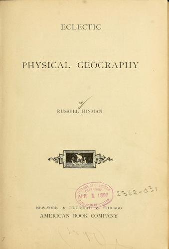 Download Eclectic physical geography