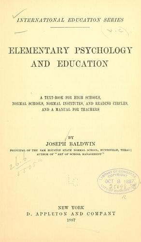 Elementary psychology and education