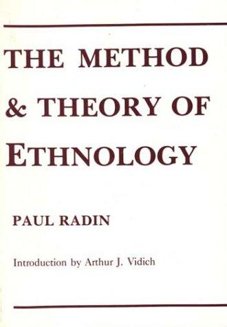 Download The method and theory of ethnology