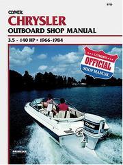 Chrysler Outboard Shop Manual: 3.5-140 Hp, 1966-1984 (Catalog No. B750) (Clym...
