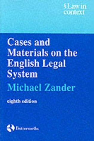 Download Cases and materials on the English legal system