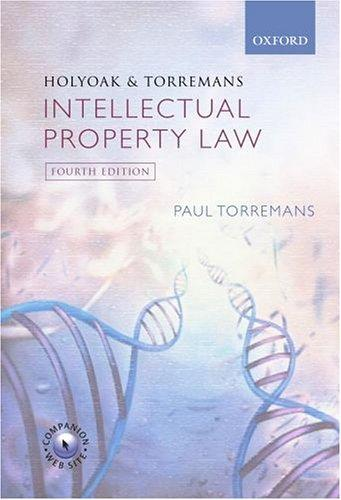 Download Holyoak and Torremans intellectual property law