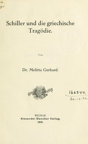 Download Schiller und die griechische Tragödie.