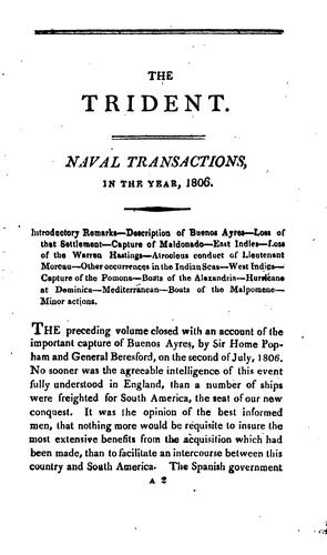 The British trident; or, Register of naval actions, from … the Spanish armada to the present time