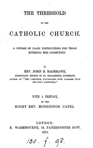 The threshold of the Catholic Church
