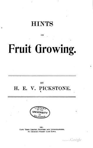 Hints on Fruit Growing