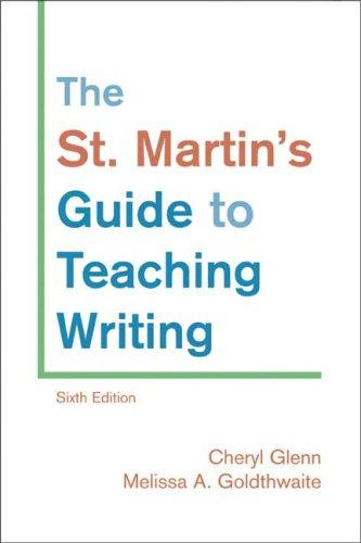 Download The St. Martin's Guide to Teaching Writing