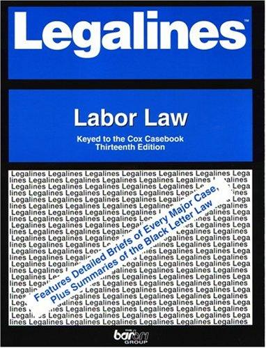 Download Legalines: Labor Law