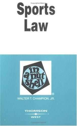 Download Sports law in a nutshell