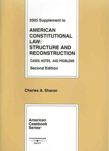 Download 2005 Supplement to American Constitutional Law