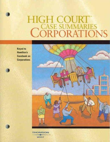 Download High Court Case Summaries on Corporations