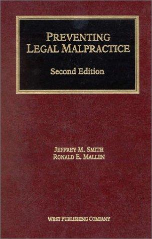 Download Preventing legal malpractice