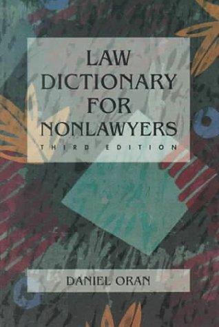 Law dictionary for nonlawyers