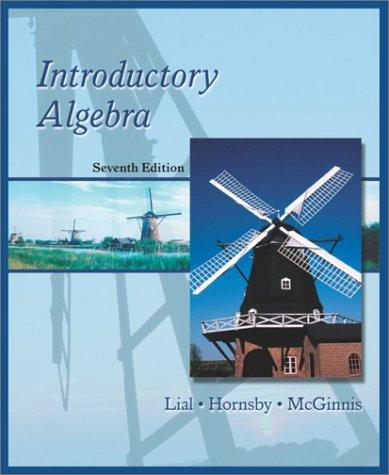 Introductory Algebra (7th Edition)