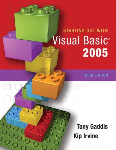 Download Starting Out with Visual Basic 2005 (3rd Edition)