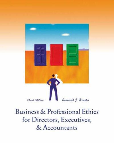 Download Business and Professional Ethics for Directors, Executives and Accountants