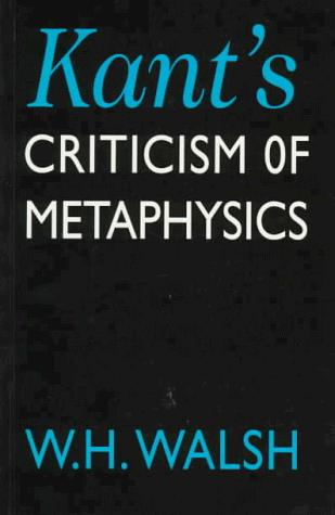 Download Kant's Criticism of Metaphysics