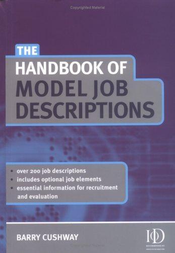 Download The Handbook of Model Job Descriptions