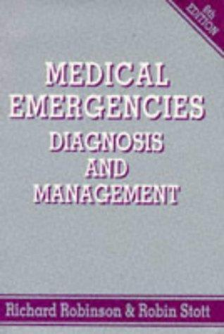 Medical emergencies, diagnosis, and management