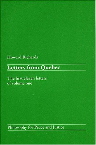 Download Letters from Quebec