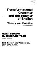 Transformational grammar and the teacher of English