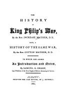 Download The history of King Philip's War