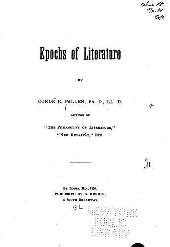 Epochs of literature.
