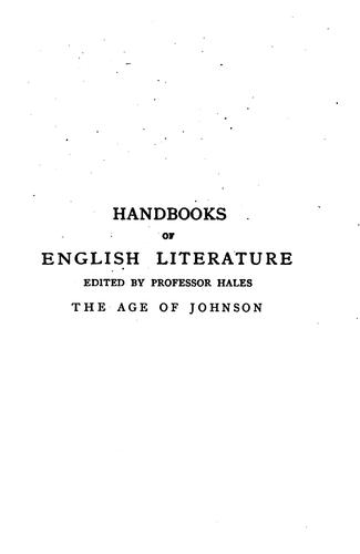 The age of Johnson (1748-1798)