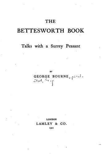 The Bettesworth book