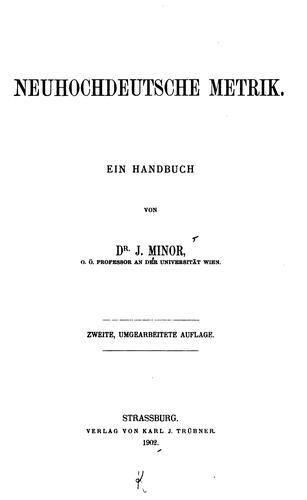 Download Neuhochdeutsche Metrik.