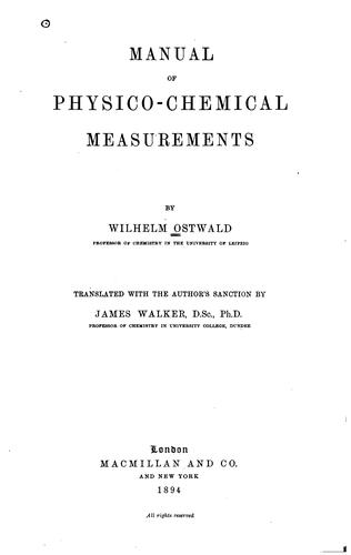 Download Manual of physico-chemical measurements