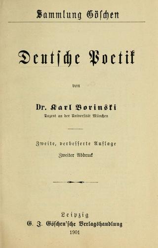 Download Deutsche poetik