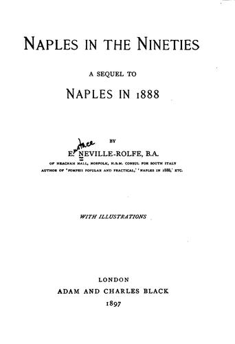 Naples in the nineties by Eustace Neville-Rolfe