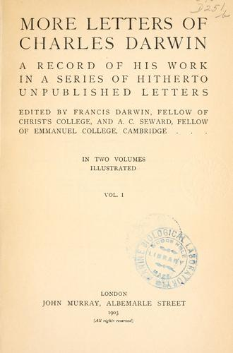 Download More letters of Charles Darwin.