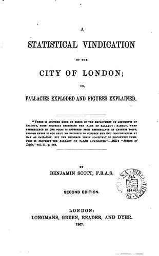 Download A statistical vindication of the city of London