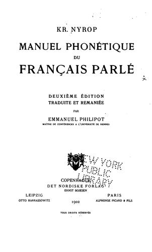 Download Manuel phonétique du français parlé.