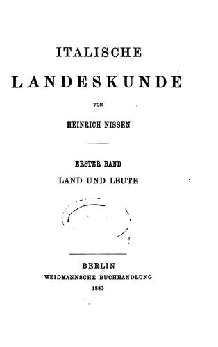 Download Italische landeskunde