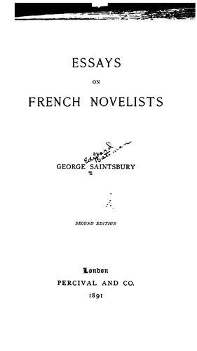 Essays on French novelists
