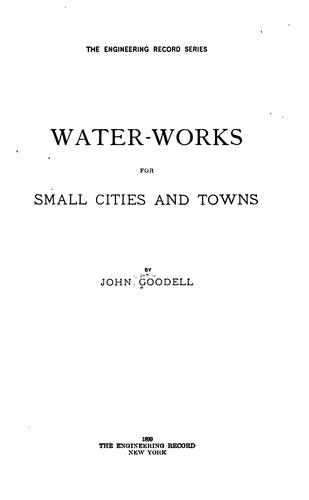 Water-works for small cities and towns