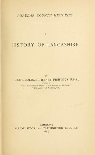 Download A history of Lancashire.