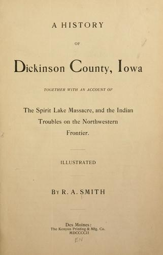 Download A history of Dickinson County, Iowa