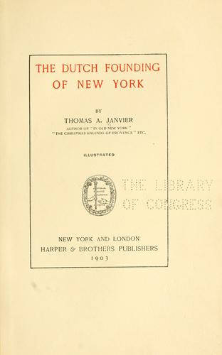 Download The Dutch founding of New York