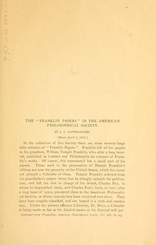 "Download The ""Franklin papers"" in the American Philosophical Society"