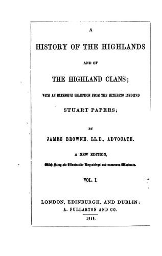 Download A history of the Highlands and of the Highland clans