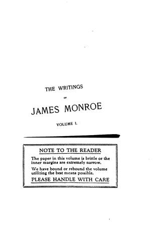 Download The writings of James Monroe