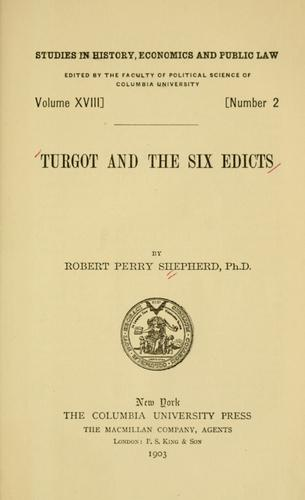 Download …Turgot and the six edicts