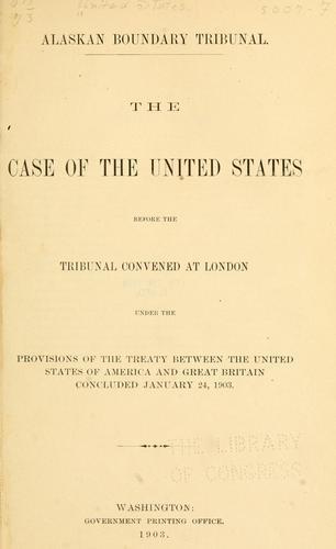 Download Alaskan boundary tribunal.
