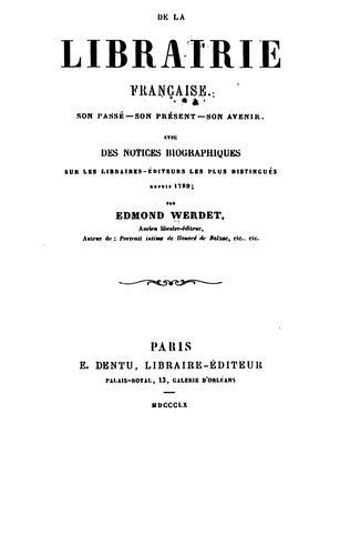 De la librairie française.