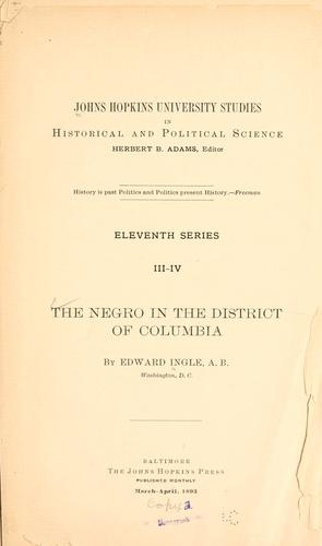 Download The Negro in the District of Columbia
